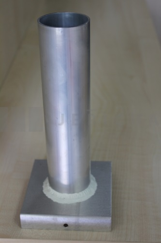Aluminium mould cylinder 46x200 mm