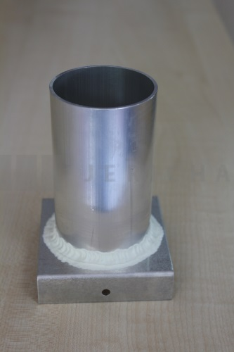 Aluminium mould cylinder 56x100 mm