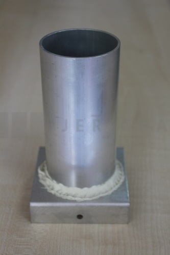 Aluminium mould cylinder 56x120 mm